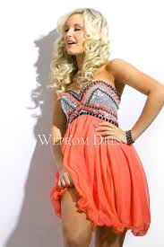 orange color chiffon christmas party dress uk
