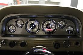 Vintage Ford Truck Gauges - classic dash saves 1960 chevy c10 interior from a butchered dash