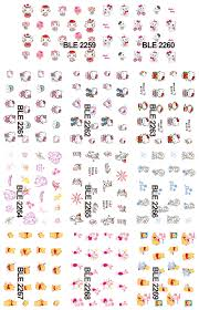 11 designs in 1 ble china water decal nail art sticker series