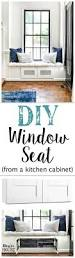 Build A Kitchen Cabinet Diy Window Seat From A Kitchen Cabinet Bless U0027er House