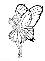 fairy princess coloring pages for girls