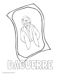world history coloring pages printables daguerre daguerreotype