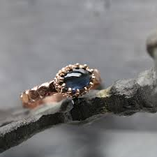 carved bridal inspired engagement ring blue indicolite tourmaline