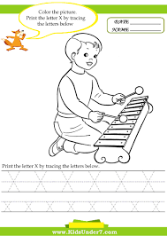 Writing The Alphabet Worksheets Kids Under 7 Alphabet Worksheets Trace And Print Letter X