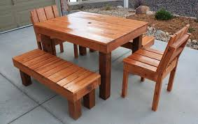 Patio Table And Bench Adwoodcraft Patio Tables And Chairs