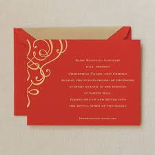 gorgeous holiday party invitation card template with red