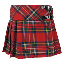 new girls pleated royal stewart tartan plaid scottish kilt skirt