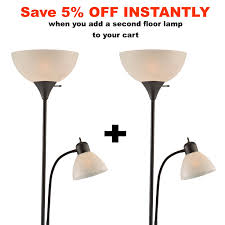 Affordable Floor Lamps Light Accents 150 Watt Floor Lamp With Side Reading Light Floor