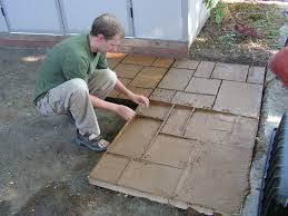 Snap Together Slate Patio Tiles by How To Make A Nice Cement Patio Vaseline Hardware And Squares