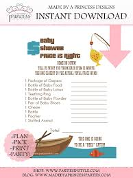 Fishing Themed Baby Shower - fishing themed price is right baby shower game pdf instant download