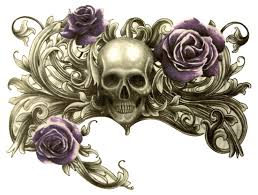 skull with roses tattoos