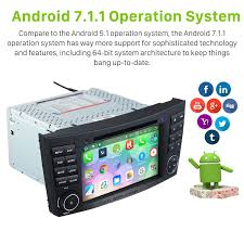 android 7 1 car stereo dvd gps system for 2002 2008 mercedes benz