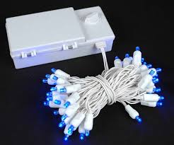 solar led xmas lights blue led battery operated and solar powered christmas lights