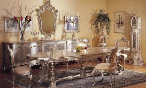 Dining Room Accessories Classic Italian Mahogany Dining Room Set With Antique Wall Mirror