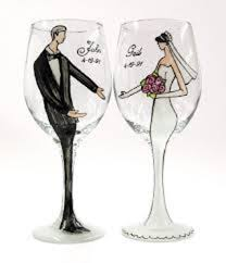wedding gift glasses personalized wine glasses for wedding gift 2015