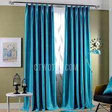 Turquoise And Curtains Light Shading And Insulated Decorative Turquoise Curtains