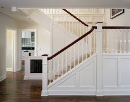 Staining Banister Paneling On Staircase Staircase Tropical With Round Table Round