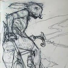easter bunny on a bike u2013 art of karl kopinski