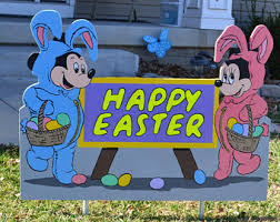 mickey mouse easter eggs mickey yard sign etsy