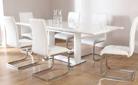 Tokyo Perth Extending White High Gloss Dining Table 4 6 8 Chairs