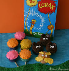 dr seuss cupcakes dr seuss the lorax cupcakes hoosier
