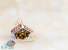 gingerbread house ornament tutorial tikkido