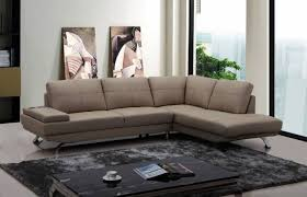 beige leather sectional sofa vig modern divani casa knight beige leather sectional sofa right