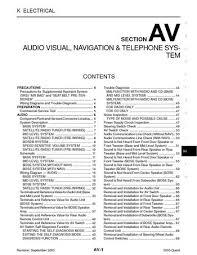 2005 nissan quest audio visual system section av pdf manual