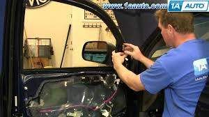 how to install replace side rear view mirror toyota tacoma 05 12