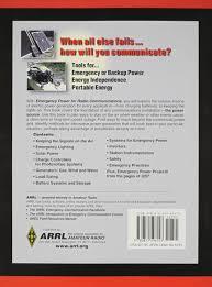 Radio Training Courses Emergency Power For Radio Communications 9780872596153 Amazon