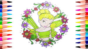 coloring disney princess coloring book for kids painting tinker