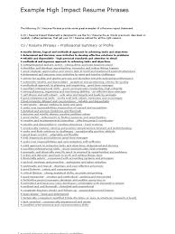 resume impact statement examples resume for your job application