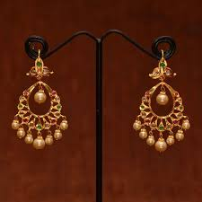 gold earrings online 20 best light jwlry images on indian jewellery design