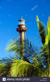 the sanibel island lighthouse with christmas decorations sanibel