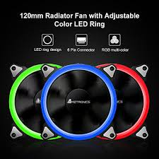 120mm rgb case fan case fan amztronics 3 pack 12 rgb led 120mm quiet edition high