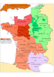 France Map Outline by The Angevin Possesion In France And England In Xii Century