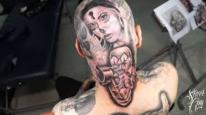sir focus head tattoo killer klown time lapse youtube
