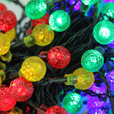 Colored Christmas Lights by Set Of 240 Multicolored Led G20 Globe Christmas Lights Green Wire