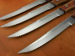 Serrated Kitchen Knives Sold Maxam Japan Vintage 4 Set Stainless Serrated Steak Knives
