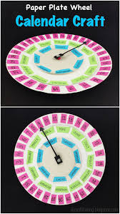 paper plate wheel calendar manners kids paper plates and paper
