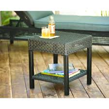 Home Depo Patio Furniture Hampton Bay Fenton Wicker Outdoor Patio Side Table D9131 Ts The