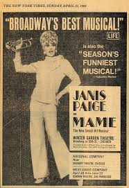 new york times ad for janis paige as mame 1968 auntie mame