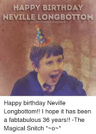 Happy Birthday Meme Tumblr - happy birthday neville longbottom acc10matthewoavel ew131 tumblr