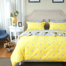small flowers print yellow bedding set soft thick sanding cotton linens queen king size duvet coveryellow