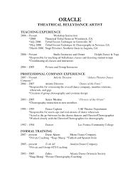 of resume
