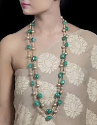 emerald gold necklace images Emerald rondelles with gold beaded necklace jade and jewels jpg