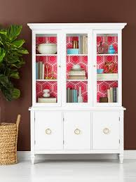 how to decorate your china cabinet how to wallpaper the inside of a china cabinet hgtv