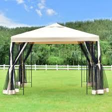 10 X 10 Awning Goplus 10 U0027x10 U0027 Gazebo Canopy Shelter Patio Wedding Party Tent