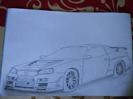 nissan skyline drawing nissan skyline gt r r34 wjnkprjct123 draw to drive