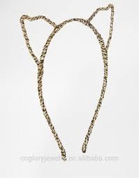 anime hair accessories korean women metal hair accessories anime cat ears hair